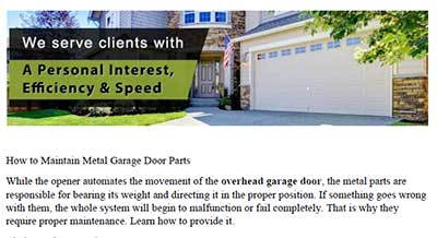 How to Maintain Metal Garage Door Parts - Garage Door Repair Atlanta
